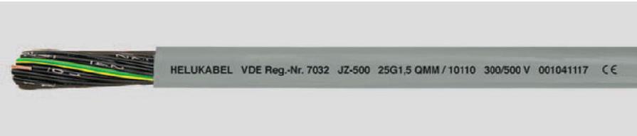 JZ-500 flexible, numerado, marcado metricamente.